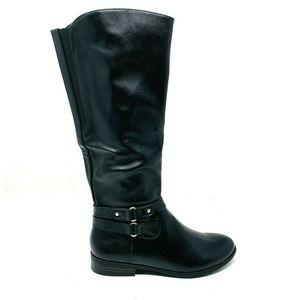Style & Co. Vegan Leather Mid-Calf Black 5.5M